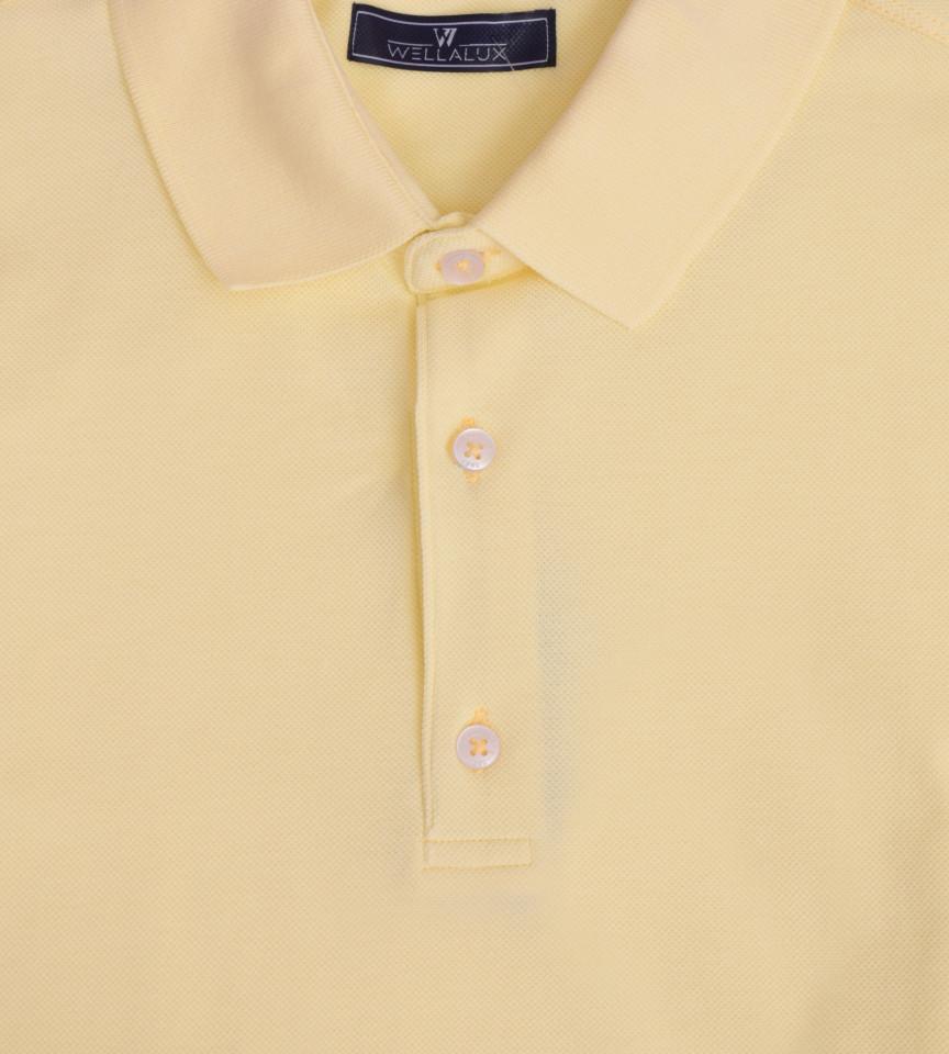 Tricou Polo Regular fit- galben deschis