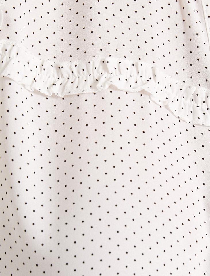 Camasa dama eleganta alba cu buline