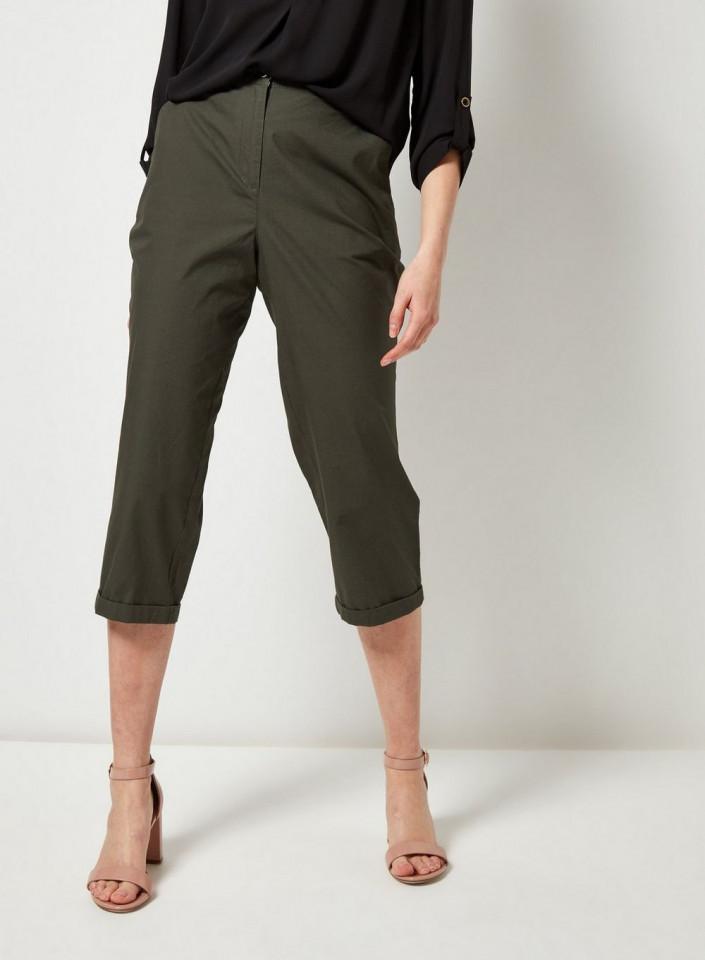 Pantaloni 3/4 kaki Dorothy Perkins