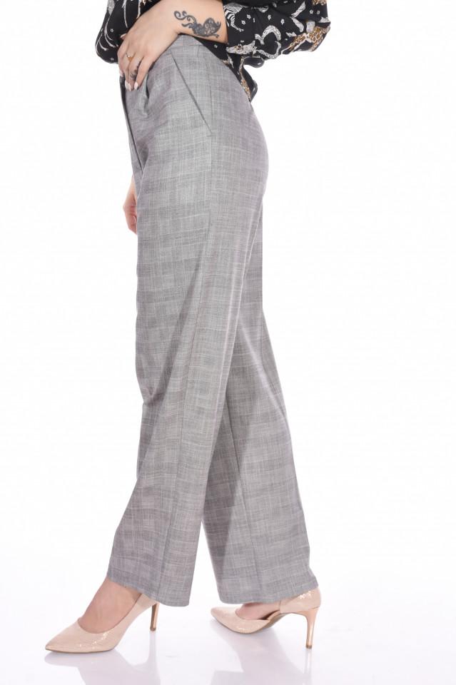 Pantaloni lejeri din stofa cu buzunare-E