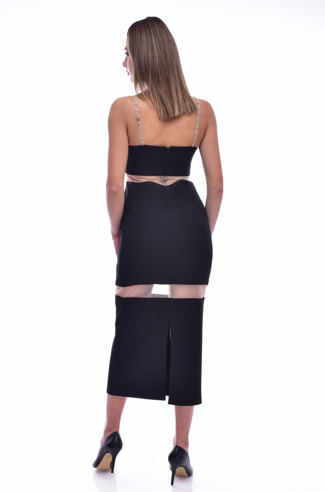 Rochie eleganta bodycone lunga - negru
