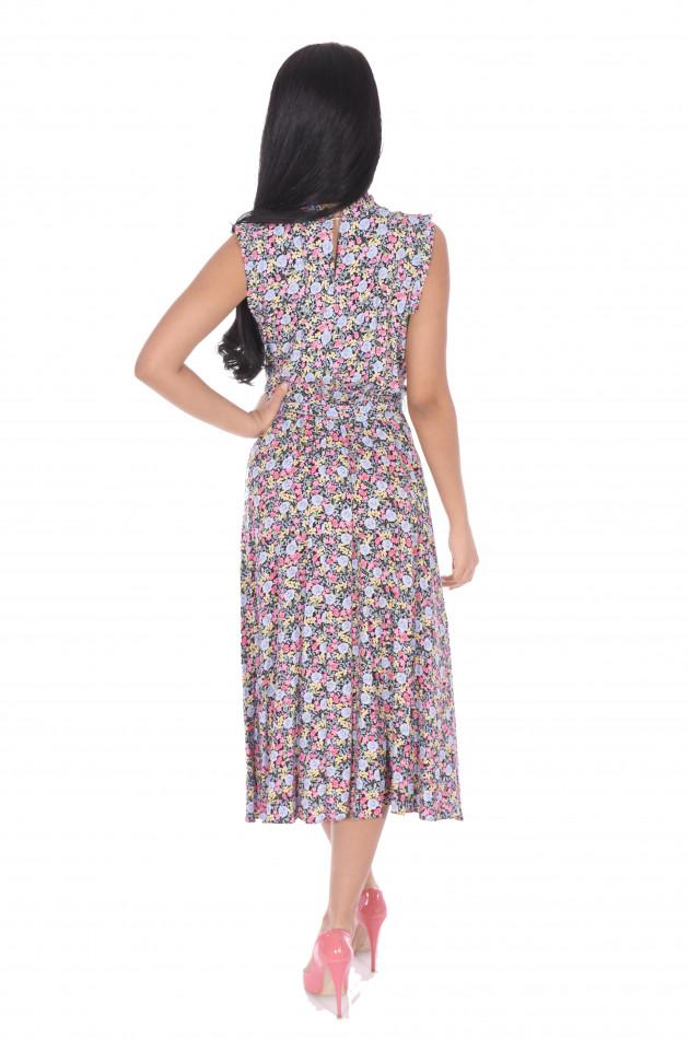 Rochie midi eleganta cu imprimeu floral Martha