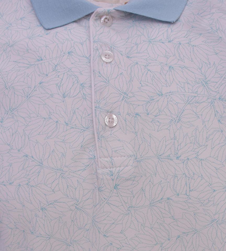 Tricou Polo Barbati Regular Fit Tony Montana cu imprimeu -alb