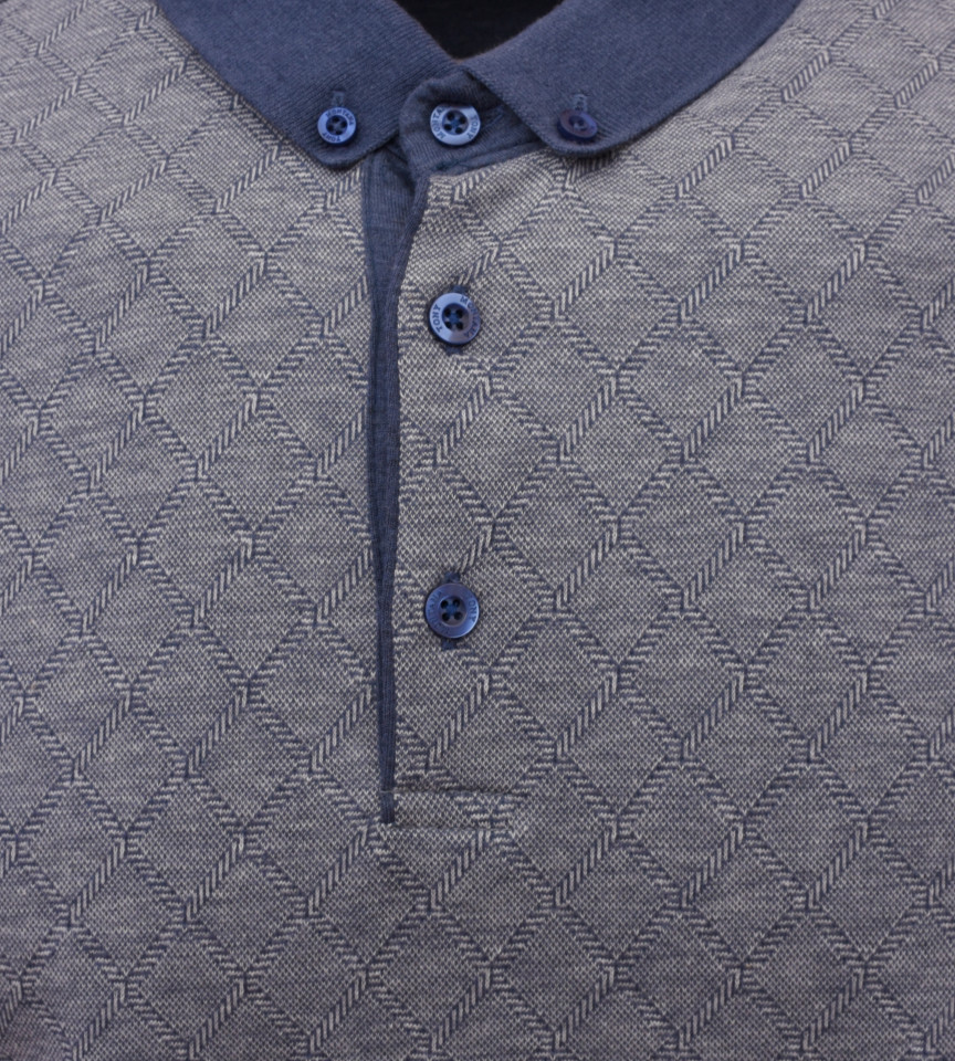 Tricou Polo Barbati Regular fit Tony Montana cu imprimeu - bleumarin