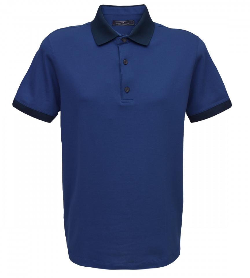 Tricou Polo Regular fit- bleumarin