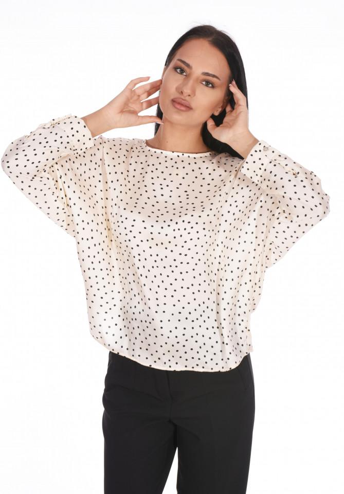 Bluza satinata cu buline-E