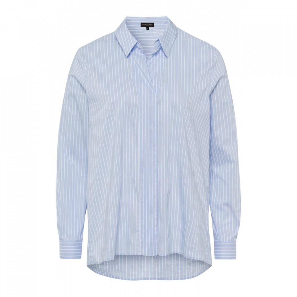 Camasa casual cu dungi alb/albastru deschis