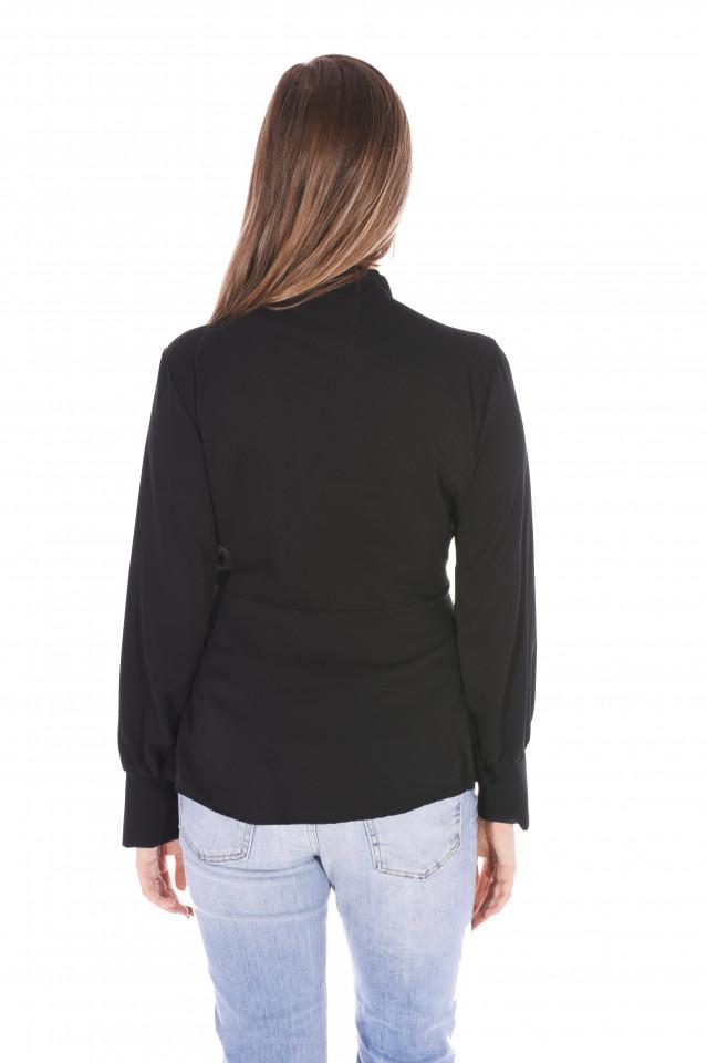 Camasa eleganta Sara - negru-E-