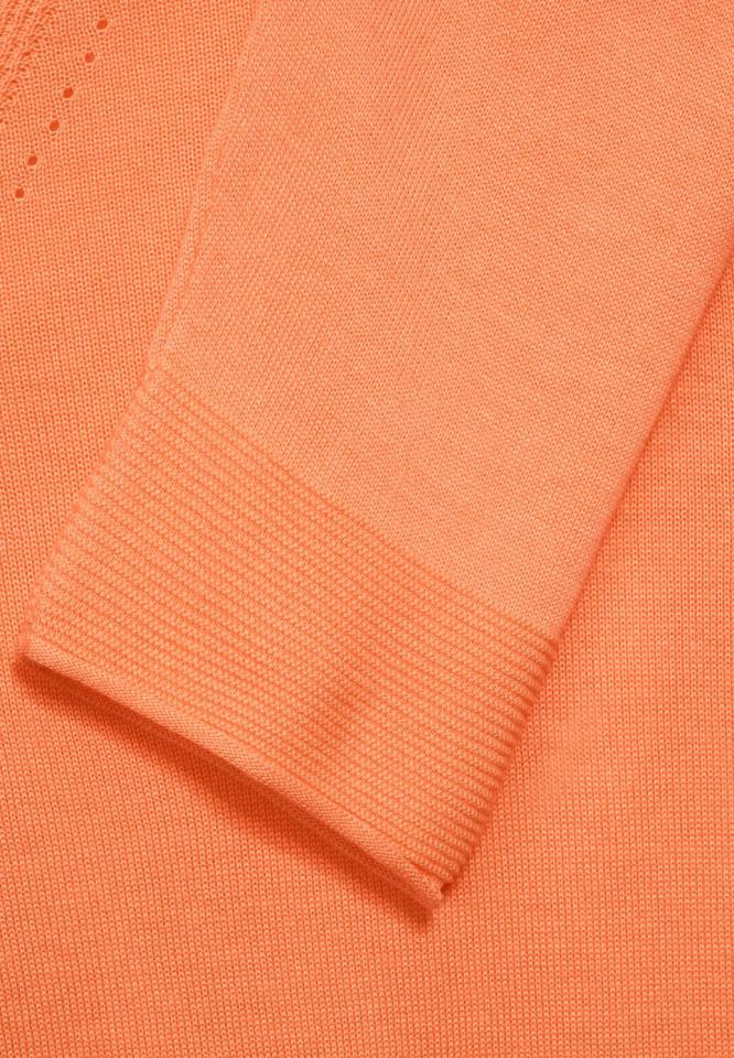 Cardigan subtire fara inchidere - portocaliu - E