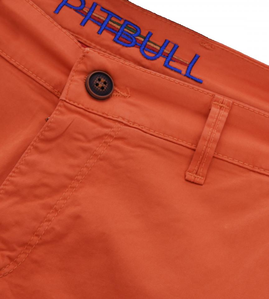 Pantaloni Chinos 3/4 Pitbull- portocaliu