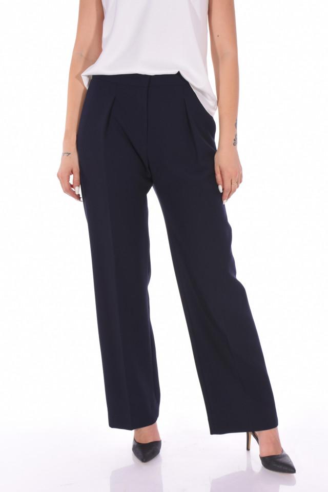 Pantaloni eleganti lejeri bleumarin-E