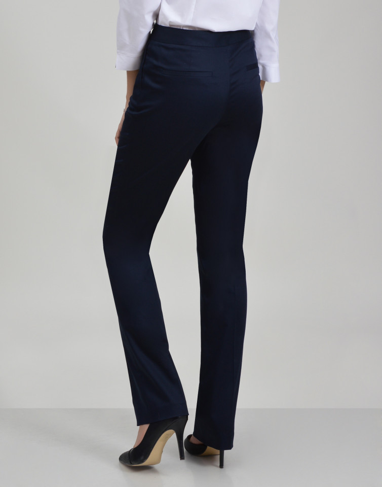 Pantaloni office cu efect satinat