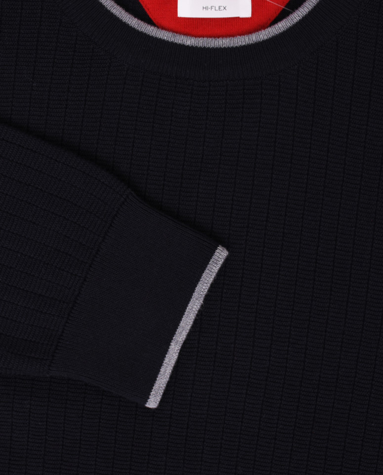 Pulover negru din bumbac Brax