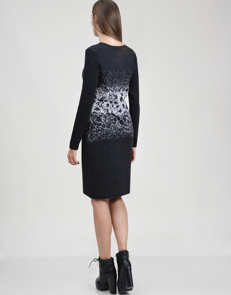 Rochie din tricot cu buzunare