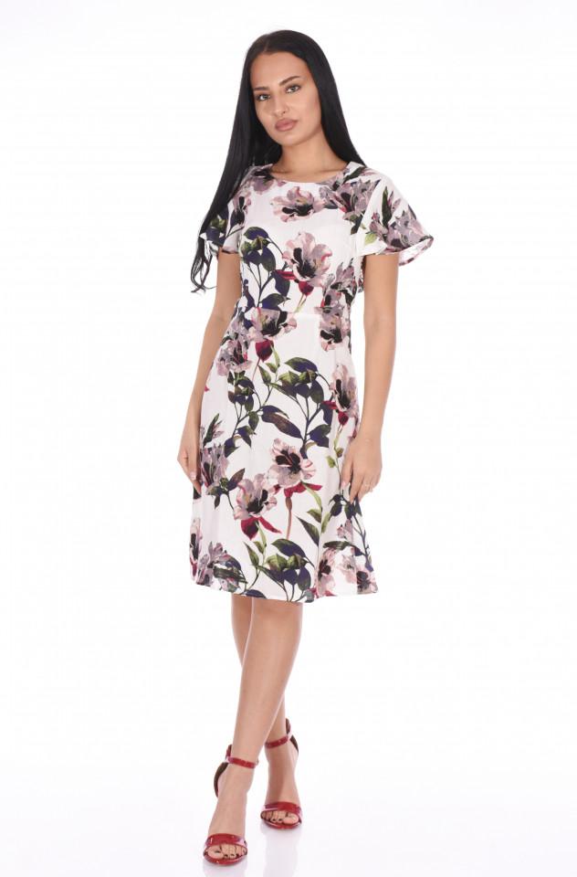 Rochie midi cu imprimeu floral Lisa-E-