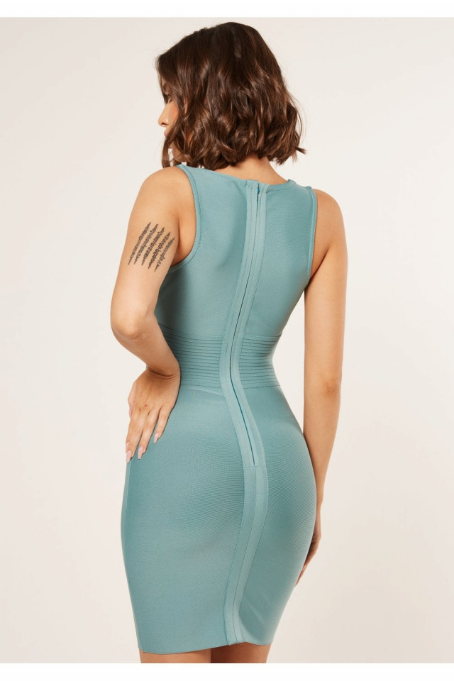 Rochie Turcoaz Bodycone The Girl Code