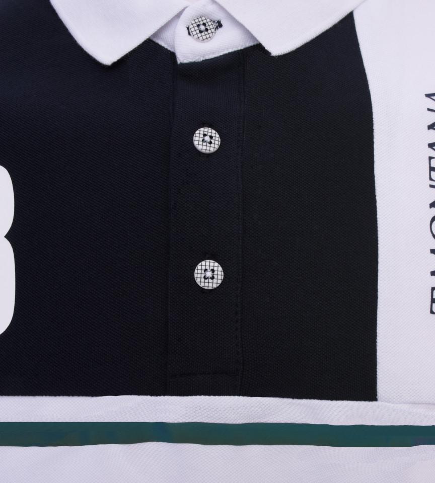 Tricou Polo Barbati Regular Fit Tony Montana -Negru/alb