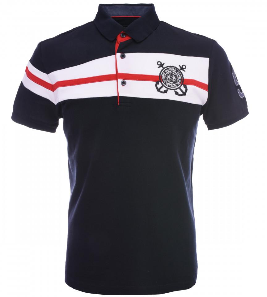 Tricou Polo Barbati Regular fit Tony Montana - Sailor-bleumarin