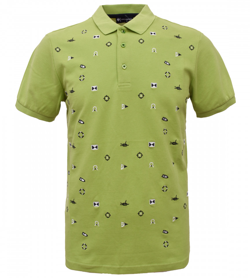 Tricou Polo Barbati Regular Fit Tony Montana- Sea Club-verde