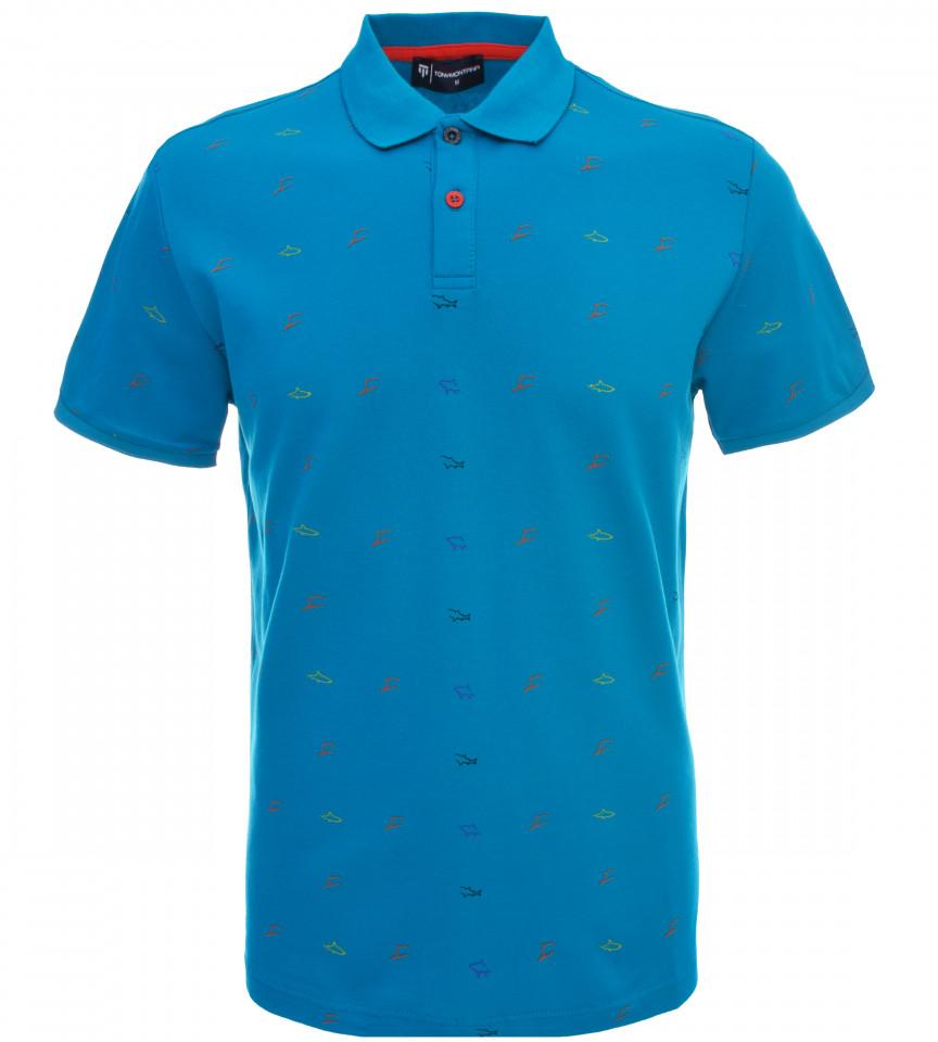 Tricou Polo Barbati Regular fit Tony Montana - Shark-albastru