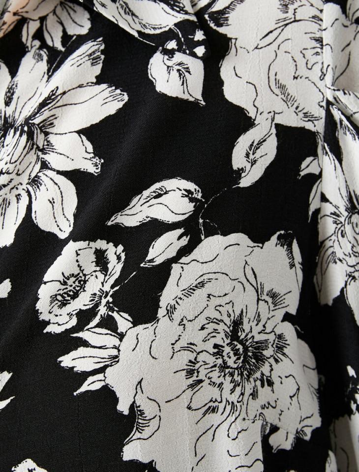 Camasa dama eleganta cu imprimeu floral-E-