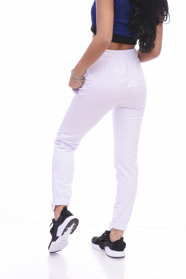 "Pantaloni dama sport ""Forever ""- alb -"