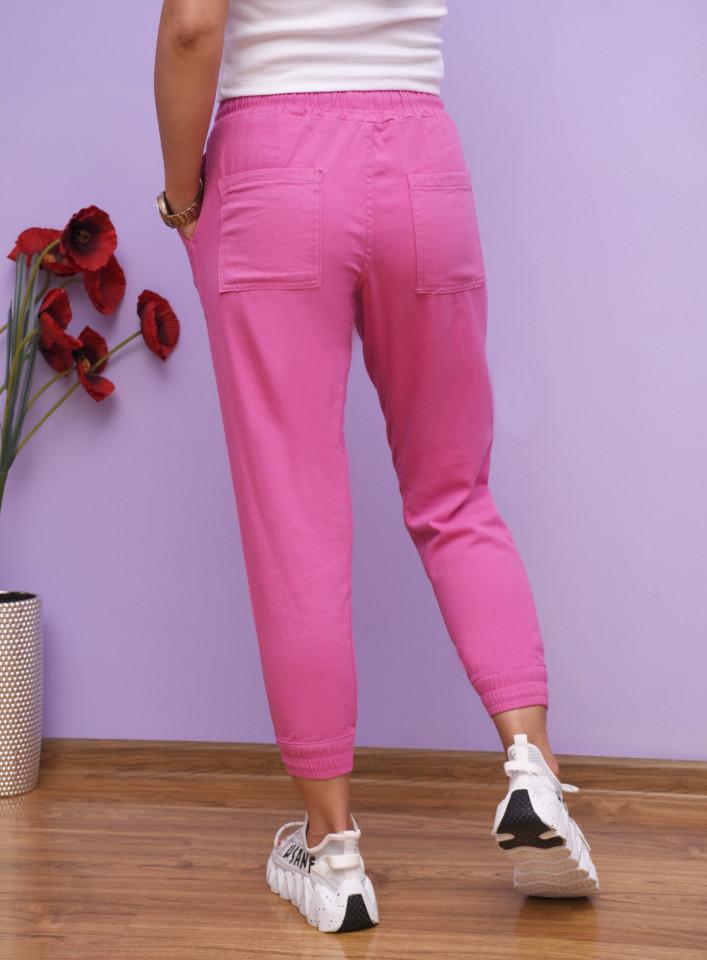 Pantaloni jogger din bumbac-roz