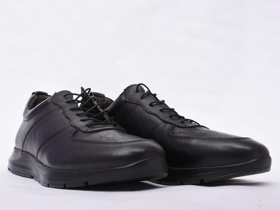 Pantofi sport barbati negri din piele naturala