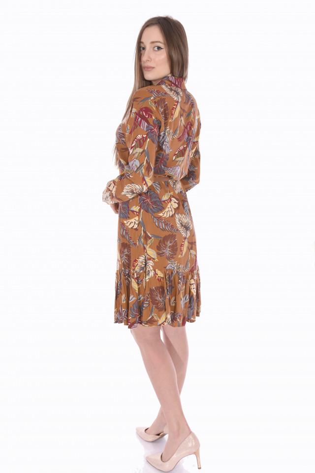 Rochie de zi eleganta cu imprimeu floral