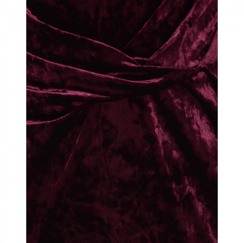 Rochie maxi din catifea - E