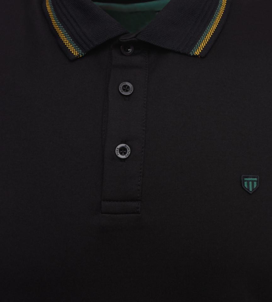 Tricou Polo Barbati Regular Tony Montana - negru