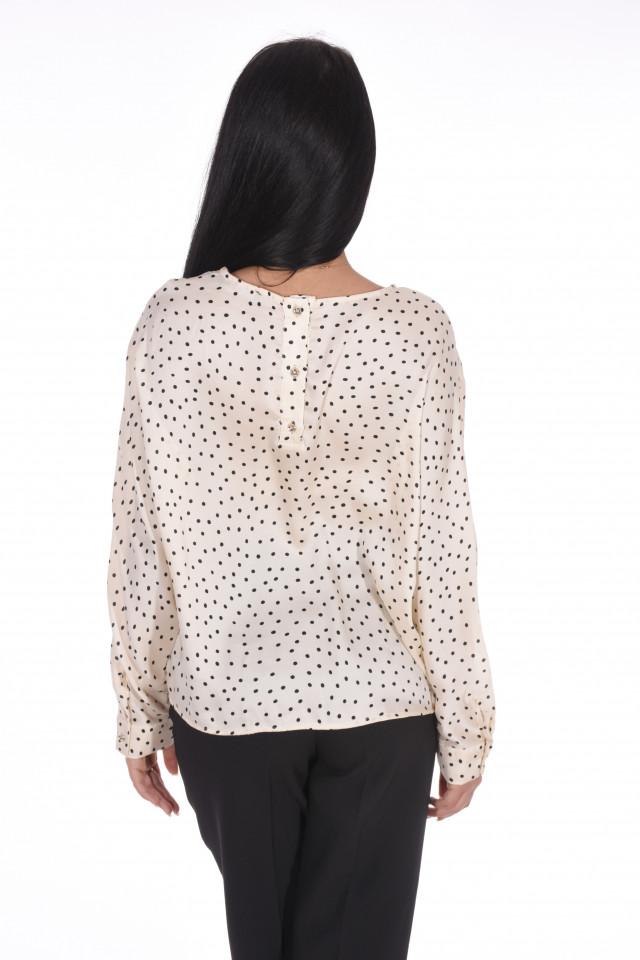 Bluza satinata cu buline