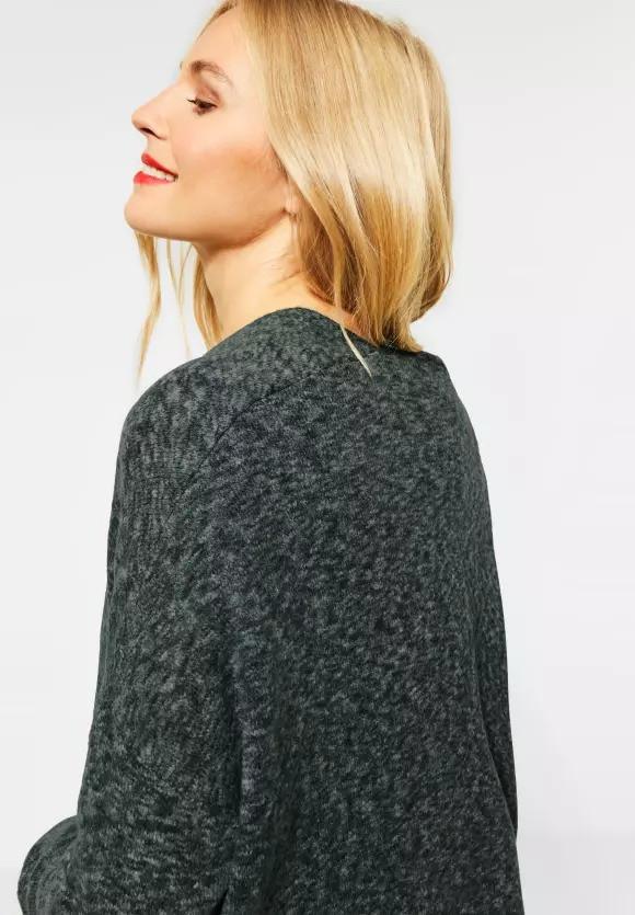 Cardigan lung din tricot flexibil