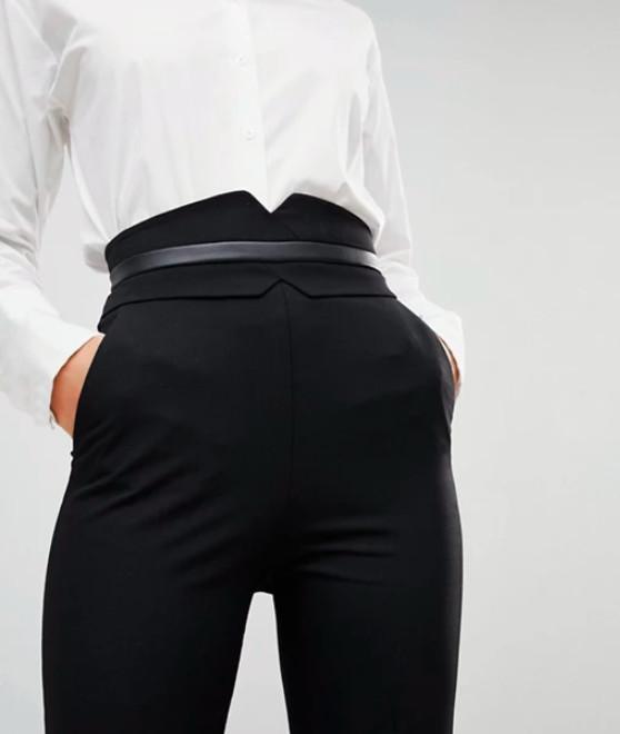 Pantaloni eleganti cu talie inalta