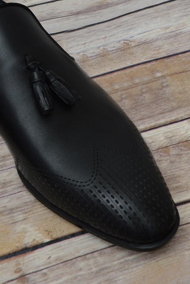 Pantofi Negri cu Canafi