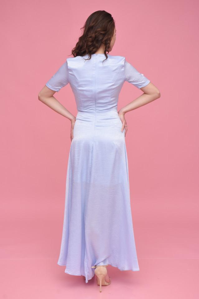Rochie lunga eleganta satinata vaporoasa