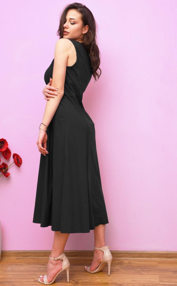 Rochie midi dama casual- negru