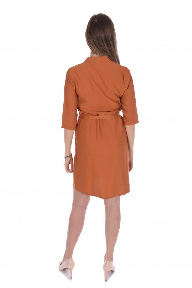 Rochie tunica cu cordon- caramiziu-