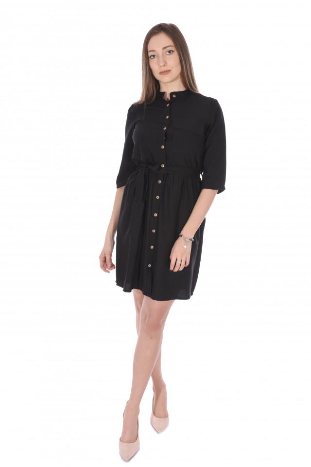 Rochie tunica cu cordon- negru-E