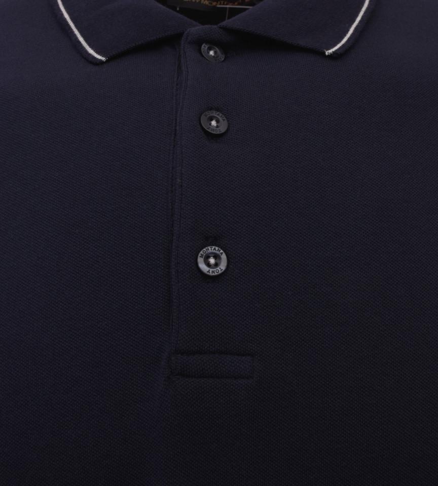 Tricou Polo Barbati Regular Fit Tony Montana- Yachting-bleumarin