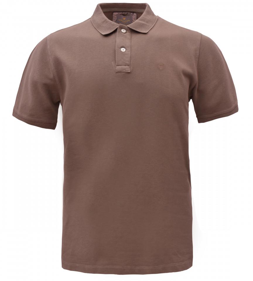 Tricou Polo Barbati Regular fit Wellalux - maro deschis
