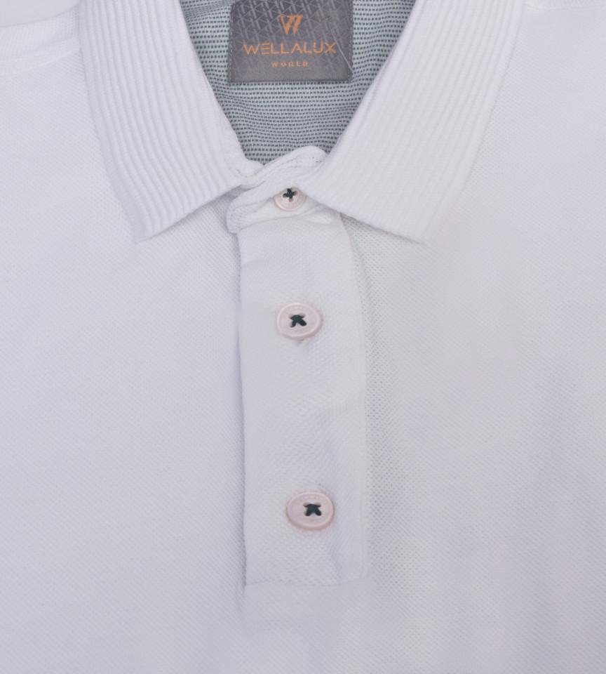 Tricou Polo Regular fit- alb
