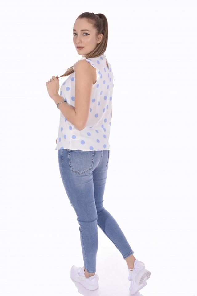 Bluza alba cu buline