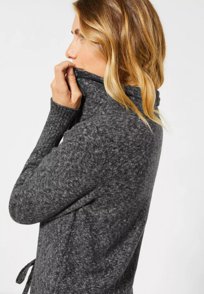 Cardigan lung din tricot flexibil