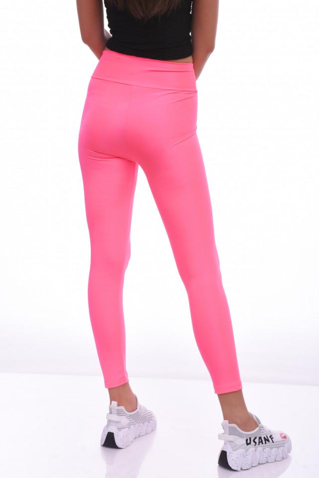 Colanti luciosi cu talie inalta si efect modelator --roz--