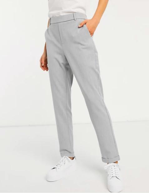 Pantaloni dama casual - gri-