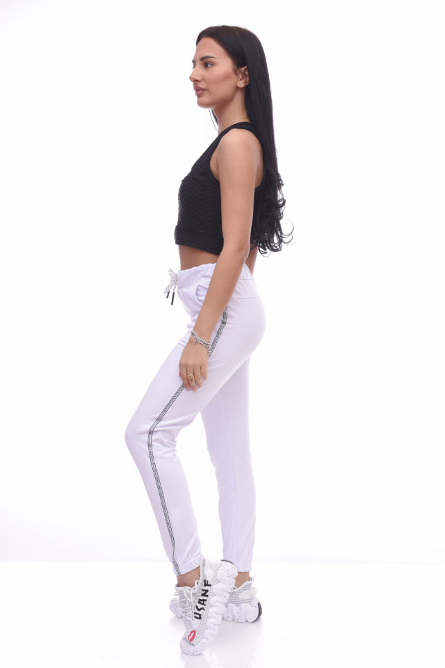 Pantaloni dama sport Nora - alb -