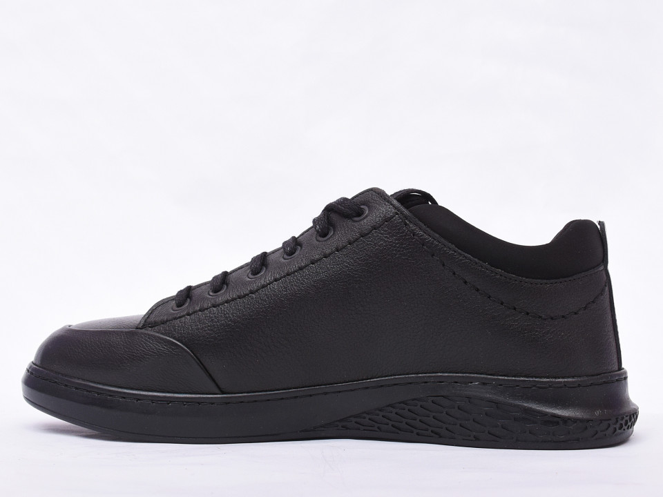 Pantofi casual barbati negri din piele naturala