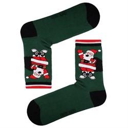 Șosete verzi cu model de Crăciun