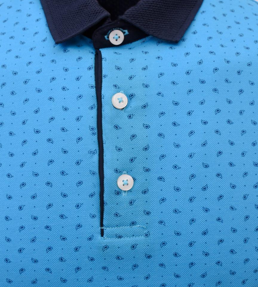Tricou Polo Barbati Regular fit Wellalux cu imprimeu - albastru
